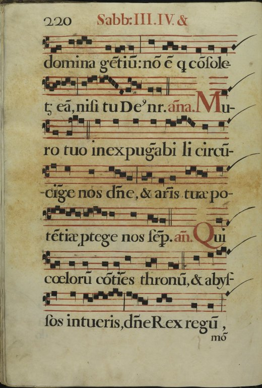 The Spanish Antiphoner. Page 220