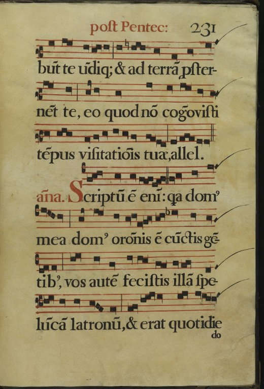 The Spanish Antiphoner. Page 231