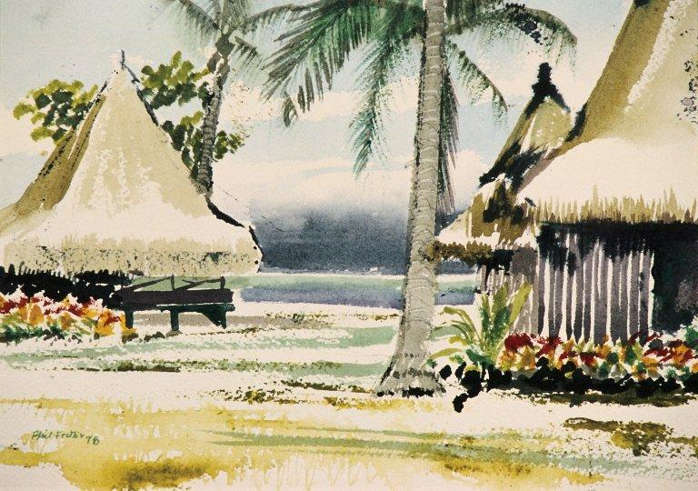 Beach with Cabanas