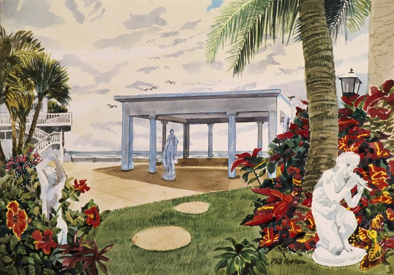 Coastal Garden with Sculptures