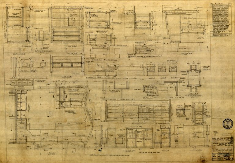 Plans, Elevations & Sections Cigar & Western Union Stands 8th Floor (A 290)