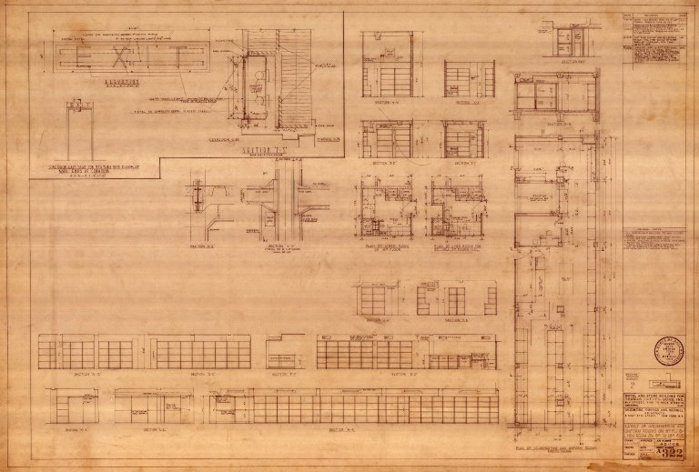 Layout of Housekeeping and Uniform Rooms on 8th Floor and Linen Rooms on 9th to 18th Floors (A 322)