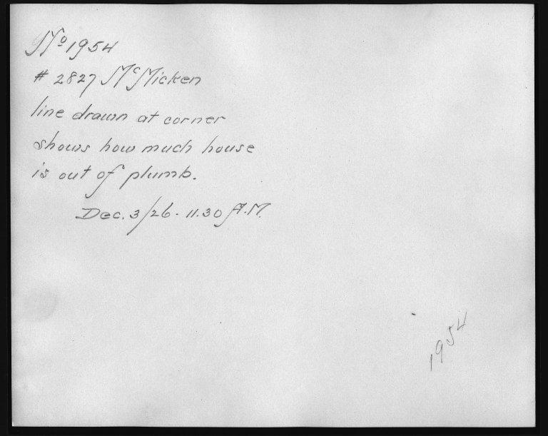 Rapid Transit Photographs -- Box 12, Folder 28 (December 3, 1926) -- print, 1926-12-03, 11:30 A.M. (back of photograph)