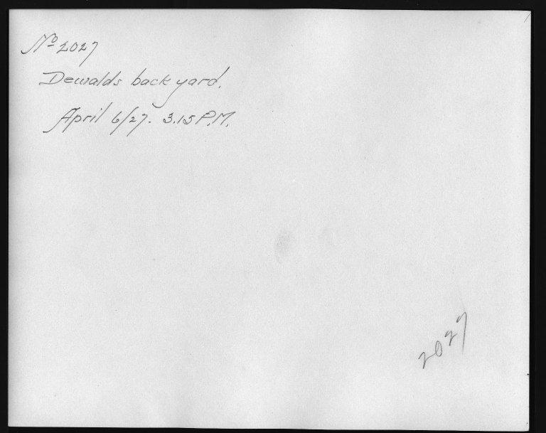 Rapid Transit Photographs -- Box 12, Folder 34 (April 6, 1927) -- print, 1927-04-06, 3:15 P.M. (back of photograph)
