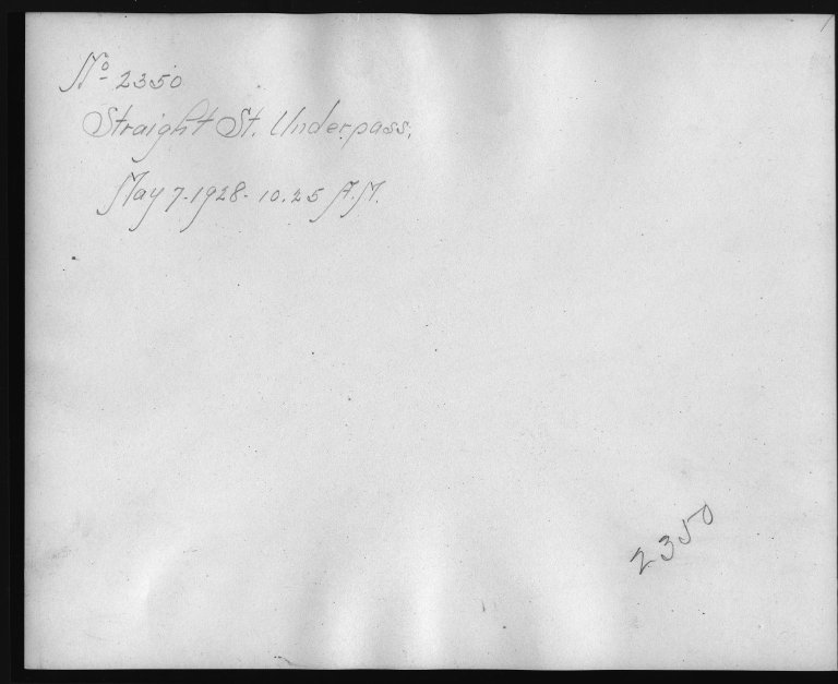 Rapid Transit Photographs -- Box 12, Folder 58 (May 4, 1928 - May 7, 1928) -- print, 1928-05-07, 10:25 A.M. (back of photograph)