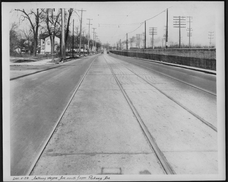 Street Improvement Photographs -- Box 21, Folder 06 (Anthony Wayne Avenue) -- print, 1928-12-05