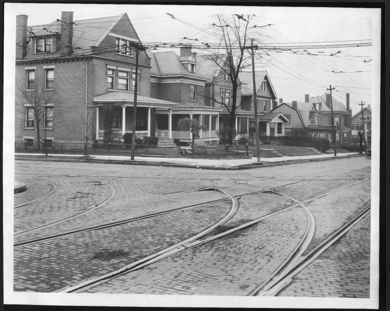 Street Improvement Photographs -- Box 21, Folder 45 (Burnet Avenue) -- print, 1923-02-27