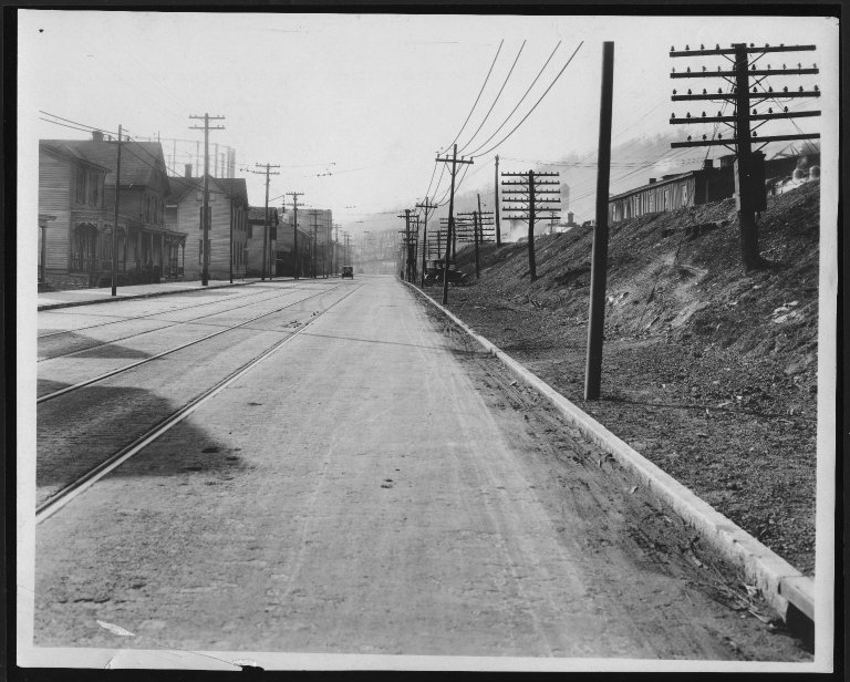 Street Improvement Photographs -- Box 22, Folder 46 (Eastern Avenue) -- print, 1923-04-06