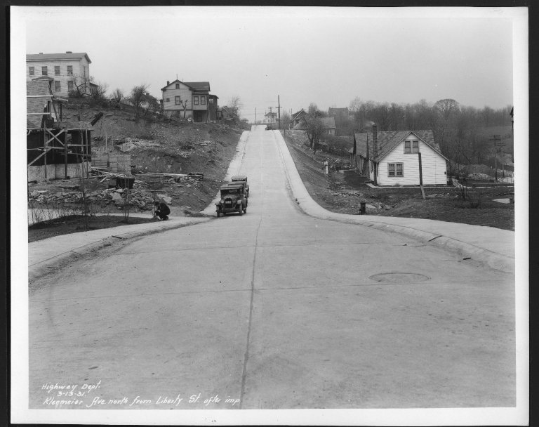 Street Improvement Photographs -- Box 25, Folder 21 (Kleemeier Avenue) -- print, 1931-03-13