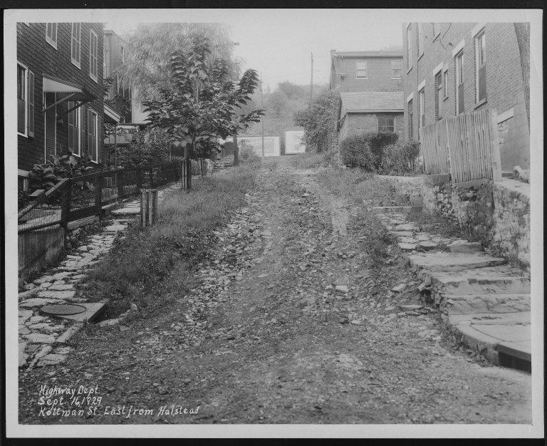 Street Improvement Photographs -- Box 25, Folder 27 (Kottman Street) -- print, 1929-09-16
