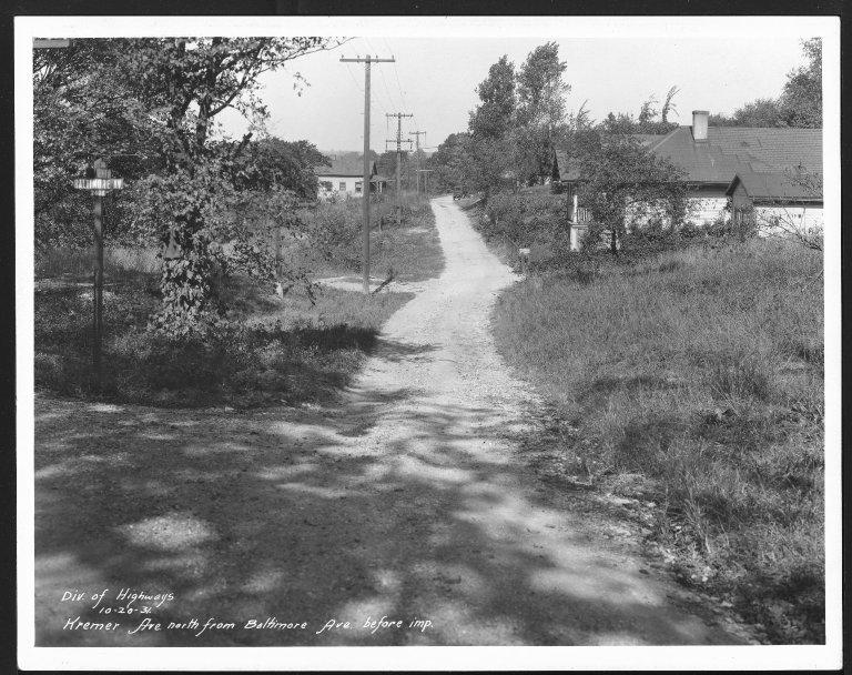 Street Improvement Photographs -- Box 25, Folder 28 (Kremer Avenue) -- print, 1931-10-20