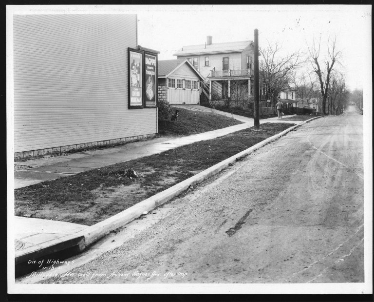Street Improvement Photographs -- Box 26, Folder 63 (Millsdale Avenue) -- print, 1931-11-18
