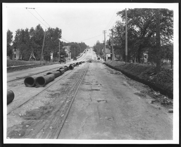 Street Improvement Photographs -- Box 27, Folder 10 (Montgomery Road) -- print, 1923-05-17