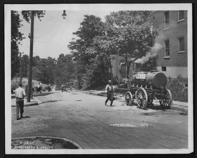 Street Improvement Photographs -- Box 28, Folder 04 (Ramelsberg Street) -- print, 1926-06-28