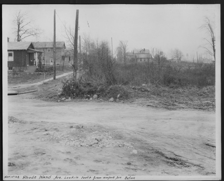 Street Improvement Photographs -- Box 28, Folder 10 (Rhode Island Avenue) -- print, 1928-11-15