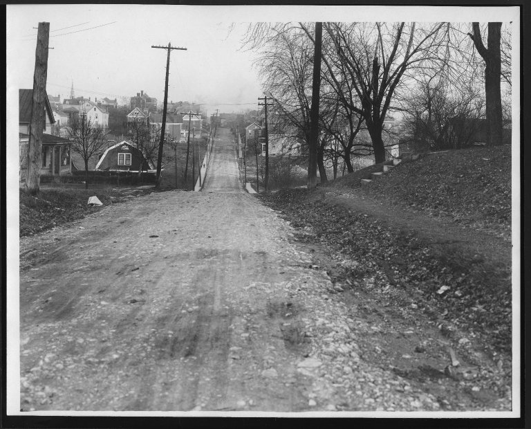 Street Improvement Photographs -- Box 28, Folder 78 (St. Lawrence Avenue) -- print, 1921-12-28