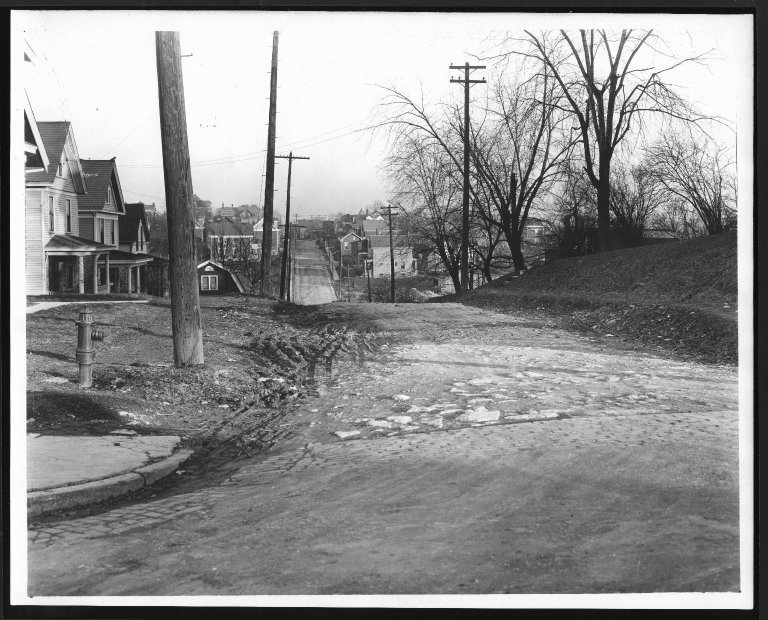 Street Improvement Photographs -- Box 28, Folder 78 (St. Lawrence Avenue) -- print, 1921-12-29