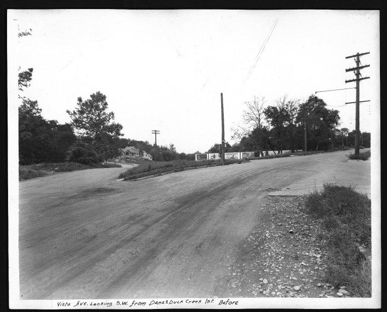 Street Improvement Photographs -- Box 29, Folder 60 (Vista Avenue) -- print, 1929
