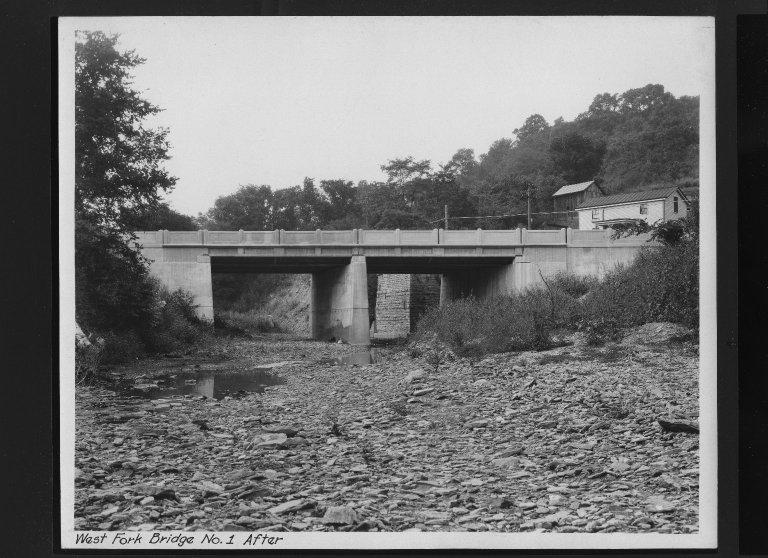 Street Improvement Photographs -- Box 30, Folder 08 (West Fork Road Bridge) -- print, 1928