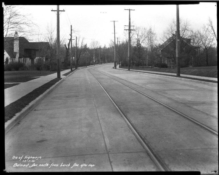 Street Improvement Photographs -- Box 32, Folder 17 (Belmont Avenue) -- negative, 1931-12-17