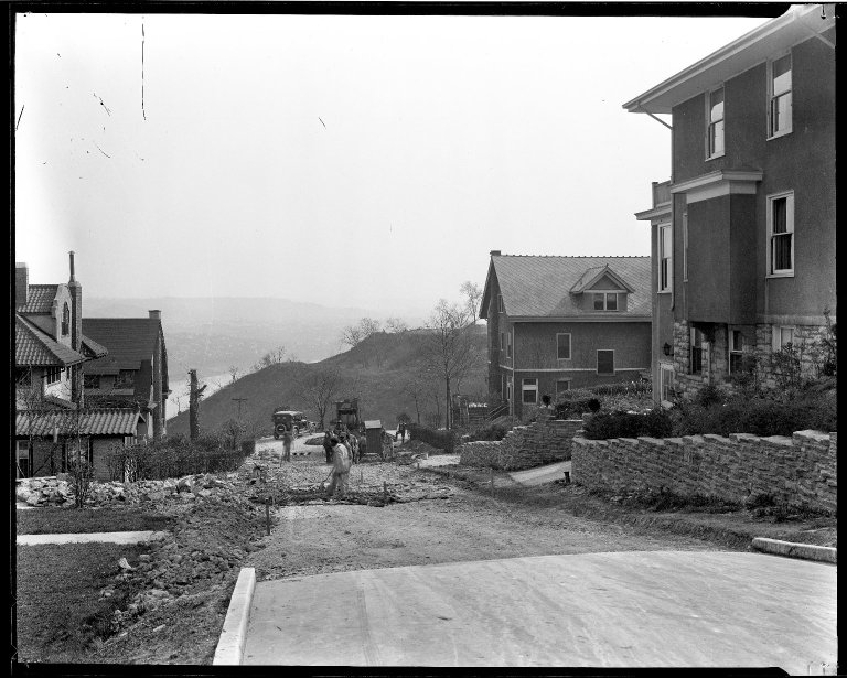 Street Improvement Photographs -- Box 32, Folder 35 (Calvin Cliff) -- negative, 1930