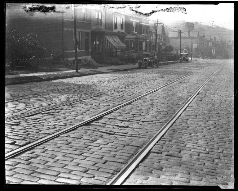 Street Improvement Photographs -- Box 33, Folder 06 (Clifton Avenue) -- negative, 1928