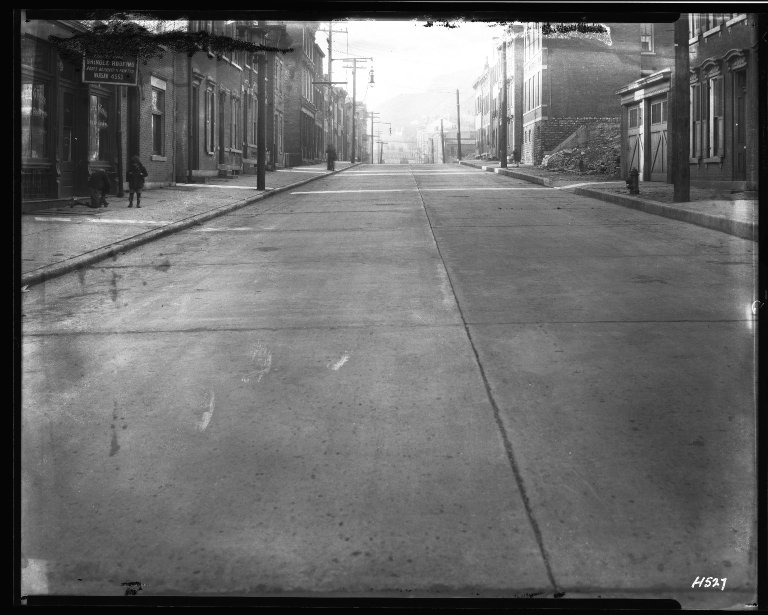 Street Improvement Photographs -- Box 33, Folder 07 (Clifton Avenue) -- negative, 1928