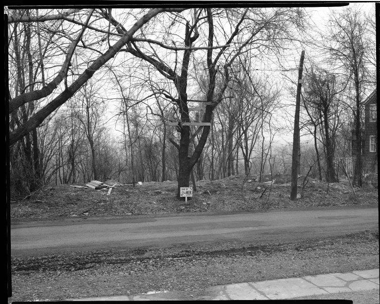 Street Improvement Photographs -- Box 33, Folder 42 (Davenant Avenue) -- negative, 1929