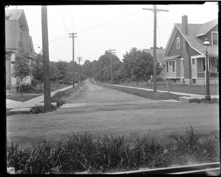 Street Improvement Photographs -- Box 33, Folder 43 (Davey Avenue) -- negative, 1929