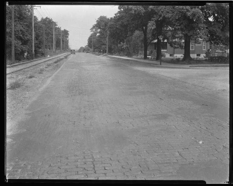 Street Improvement Photographs -- Box 36, Folder 37 (Hamilton Avenue) -- negative, 1928