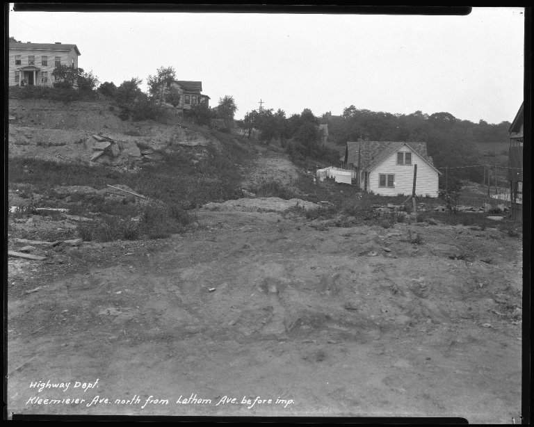 Street Improvement Photographs -- Box 38, Folder 10 (Kleemeier Avenue) -- negative, 1930