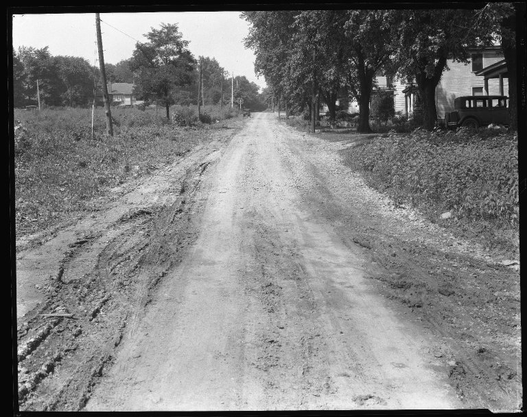 Street Improvement Photographs -- Box 38, Folder 51 (Lester Road) -- negative, 1930