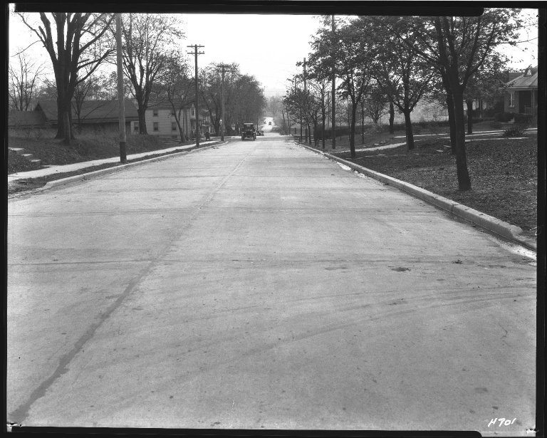 Street Improvement Photographs -- Box 38, Folder 53 (Lester Road) -- negative, 1930