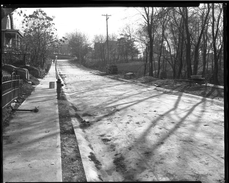 Street Improvement Photographs -- Box 39, Folder 14 (Lilac Avenue) -- negative, 1928