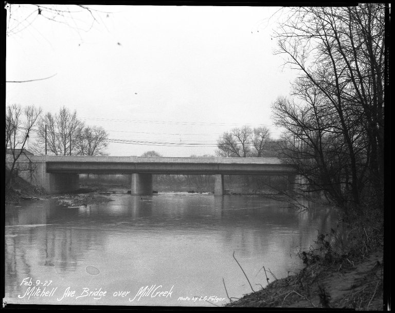 Street Improvement Photographs -- Box 41, Folder 24 (Mitchell Avenue) -- negative, 1927-02-09