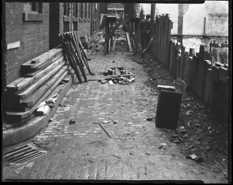 Street Improvement Photographs -- Box 42, Folder 18 (Ninth Street) -- negative, 1924