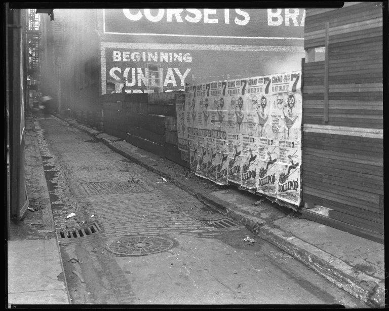 Street Improvement Photographs -- Box 42, Folder 51 (Opera Place) -- negative, 1924