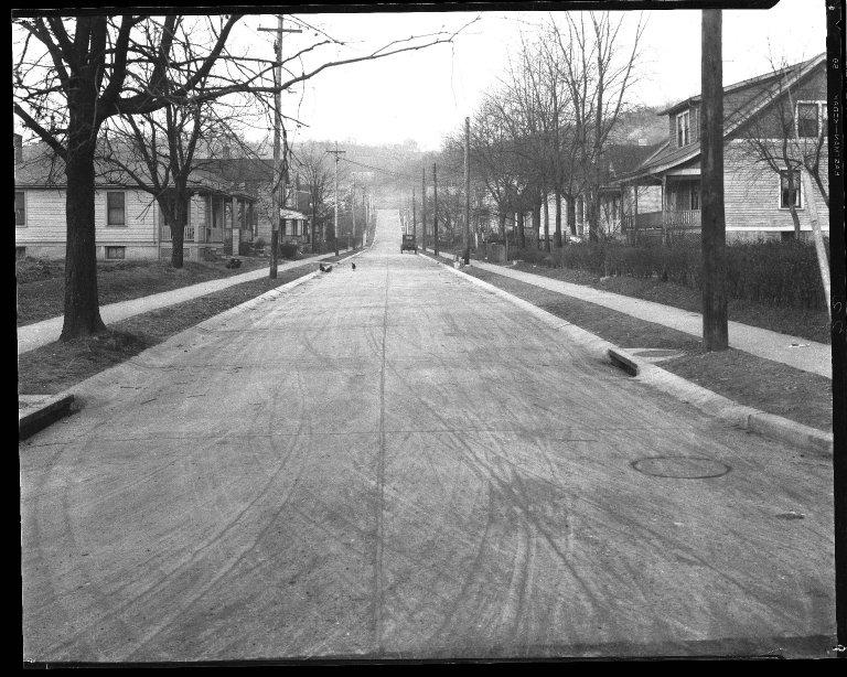 Street Improvement Photographs -- Box 42, Folder 54 (Owasco Street) -- negative, 1927