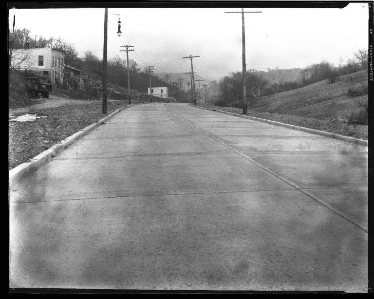 Street Improvement Photographs -- Box 43, Folder 30 (Quebec Road) -- negative, 1927
