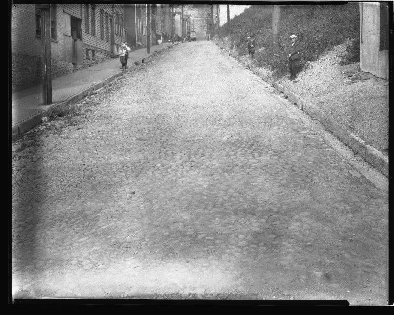 Street Improvement Photographs -- Box 44, Folder 01 (Rice Street) -- negative, 1927