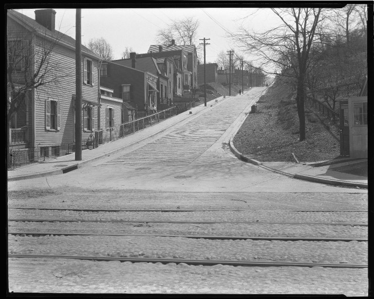 Street Improvement Photographs -- Box 44, Folder 41 (Seeger Street) -- negative, 1927