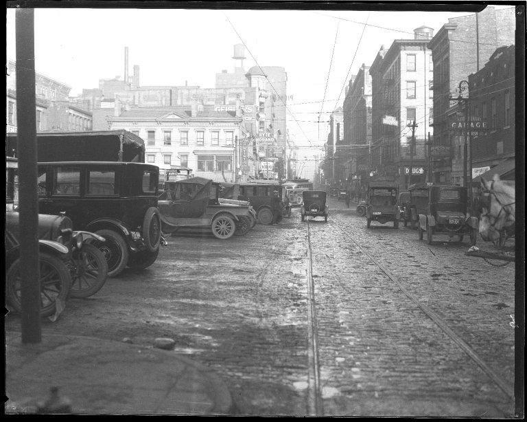 Street Improvement Photographs -- Box 45, Folder 01 (Sixth Street) -- negative, 1924