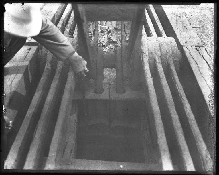 Street Improvement Photographs -- Box 45, Folder 16 (Smith Street Bridge) -- negative, 1927