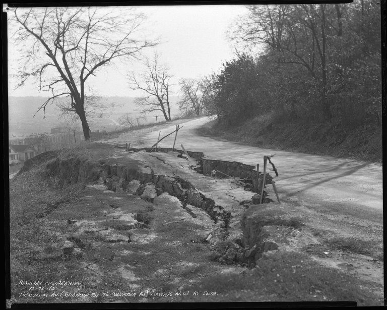 Street Improvement Photographs -- Box 46, Folder 16 (Tusculum Avenue) -- negative, 1940-10-25