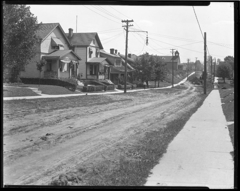 Street Improvement Photographs -- Box 47, Folder 02 (Watterson Street) -- negative, 1930