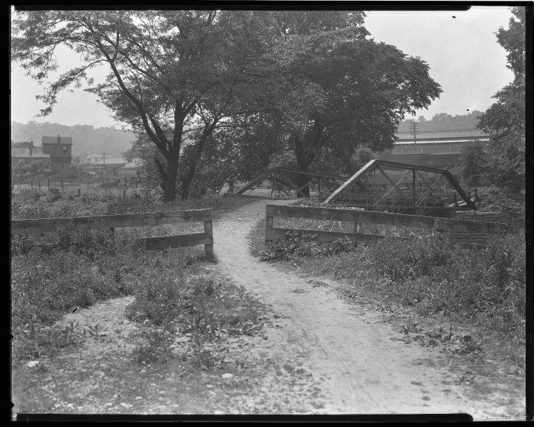 Street Improvement Photographs -- Box 47, Folder 12 (West Fork Bridge) -- negative, 1927