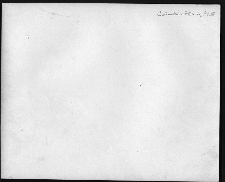 Street Improvement Photographs -- Box 48, Folder 37 (1938) -- print, 1938 (back of photograph)
