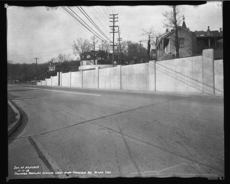 Street Improvement Photographs -- Box 50, Folder 24 (November 6, 1938 - November 7, 1938) -- negative, 1938-11-07