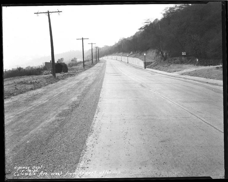 Street Improvement Photographs -- Box 51, Folder 03 (October 10, 1930 - December 27, 1932) -- negative, 1930-10-10