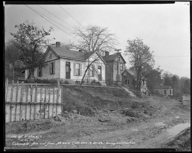 Street Improvement Photographs -- Box 51, Folder 04 (September 12, 1932 - June 23, 1934) -- negative, 1932-10-20